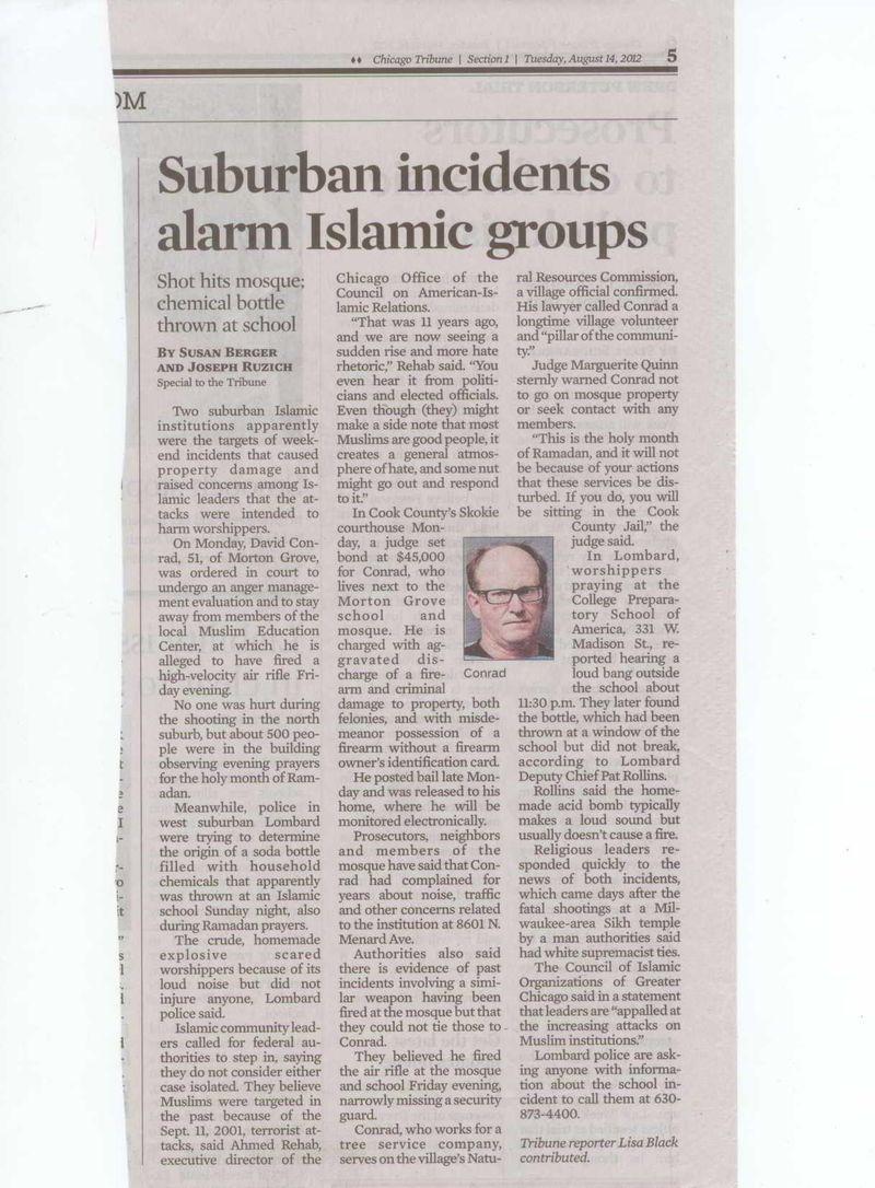 Suburban incidents alarm Islamist groups
