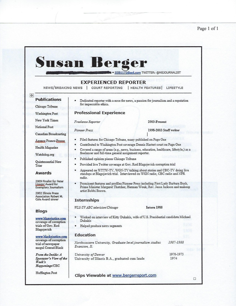 Ssb resume no address